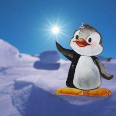 como hacer un pingüino ilustrado