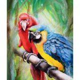 Karten – Prints  Ilustración Papagayos- Papagei